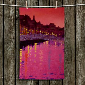 Unique Hanging Tea Towels | John Nolan - Twilight Ha Penny Bridge Dublin | Places Dublin