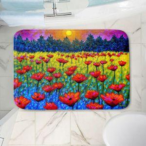 Decorative Bathroom Mats | John Nolan - Twilight Poppies