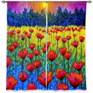 Decorative Window Treatments | John Nolan Twilight Poppies