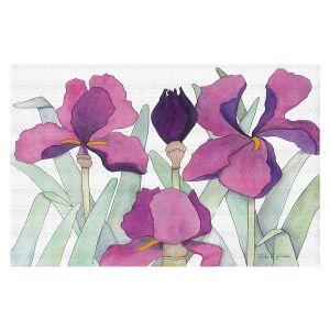 Decorative Floor Covering Mats | Judith Figuiere - 3 Iris | Floral, Flowers
