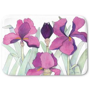 Decorative Bathroom Mats | Judith Figuiere - 3 Iris | Floral, Flowers