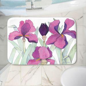 Decorative Bathroom Mats | Judith Figuiere - 3 Iris | Floral, Flowers