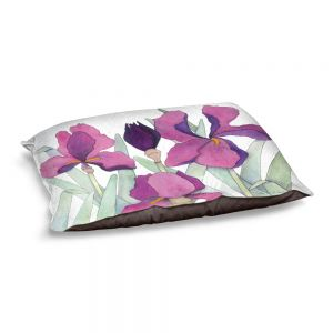 Decorative Dog Pet Beds | Judith Figuiere - 3 Iris | Floral, Flowers
