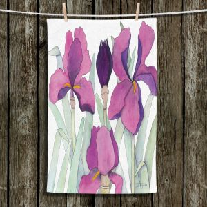 Unique Bathroom Towels | Judith Figuiere - 3 Iris | Floral, Flowers