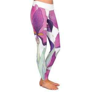 Casual Comfortable Leggings | Judith Figuiere - 3 Iris | Floral, Flowers