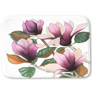Decorative Bathroom Mats | Judith Figuiere - 4 Purple Magnolias | Floral, Flowers