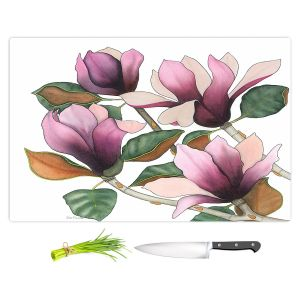 Artistic Kitchen Bar Cutting Boards | Judith Figuiere - 4 Purple Magnolias | Floral, Flowers