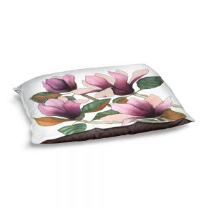 Decorative Dog Pet Beds | Judith Figuiere - 4 Purple Magnolias | Floral, Flowers