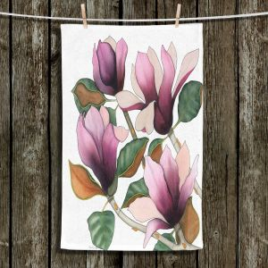 Unique Bathroom Towels | Judith Figuiere - 4 Purple Magnolias | Floral, Flowers