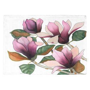 Countertop Place Mats   Judith Figuiere - 4 Purple Magnolias   Floral, Flowers
