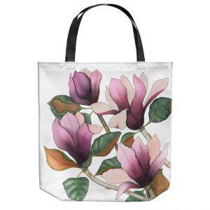 Unique Shoulder Bag Tote Bags   Judith Figuiere - 4 Purple Magnolias   Floral, Flowers