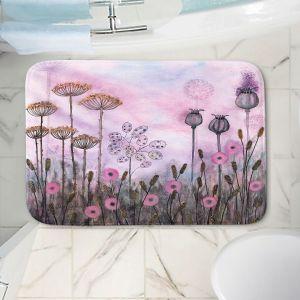 Decorative Bathroom Mats | Judith Figuiere - Autumn Poppies | Floral, Flowers, landscape, field