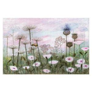 Decorative Floor Covering Mats | Judith Figuiere - Bumble Bee | Floral, Flowers, landscape, field