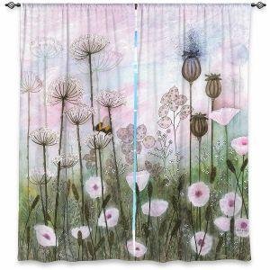 Decorative Window Treatments | Judith Figuiere - Bumble Bee | Floral, Flowers, landscape, field