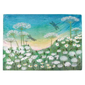 Countertop Place Mats | Judith Figuiere - Dragon Flies | Floral, Flowers, landscape, field