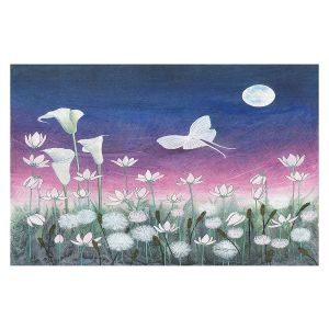 Decorative Floor Covering Mats | Judith Figuiere - Luna | Floral, Flowers, landscape, field