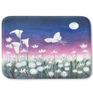 Decorative Bathroom Mats | Judith Figuiere - Luna | Floral, Flowers, landscape, field