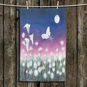 Unique Hanging Tea Towels | Judith Figuiere - Luna | Floral, Flowers, landscape, field