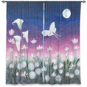Decorative Window Treatments | Judith Figuiere - Luna | Floral, Flowers, landscape, field