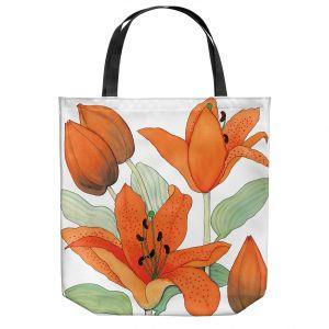 Unique Shoulder Bag Tote Bags   Judith Figuiere - Orange Lillies   Floral, Flowers