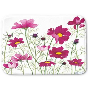 Decorative Bathroom Mats | Judith Figuiere - Pink Cosmos | Floral, Flowers