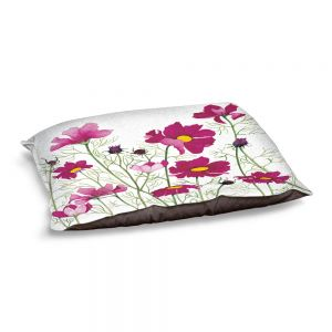 Decorative Dog Pet Beds | Judith Figuiere - Pink Cosmos | Floral, Flowers