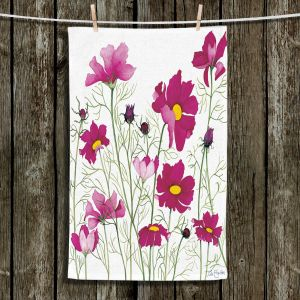 Unique Bathroom Towels | Judith Figuiere - Pink Cosmos | Floral, Flowers