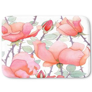 Decorative Bathroom Mats | Judith Figuiere - Rosa | Floral, Flowers