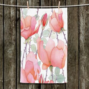 Unique Bathroom Towels | Judith Figuiere - Rosa | Floral, Flowers