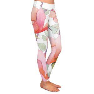 Casual Comfortable Leggings | Judith Figuiere - Rosa | Floral, Flowers