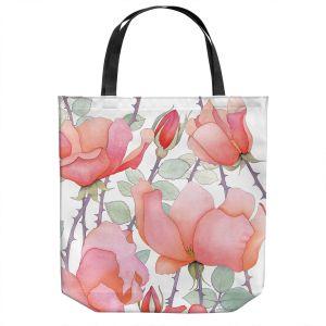 Unique Shoulder Bag Tote Bags   Judith Figuiere - Rosa   Floral, Flowers
