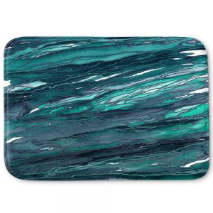 Decorative Bathroom Mats | Julia Di Sano - Agate Magic Dark Teal