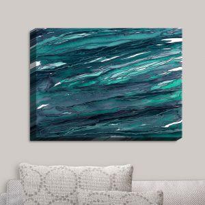 Decorative Canvas Wall Art | Julia Di Sano - Agate Magic Dark Teal | Abstract Painting