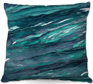 Throw Pillows Decorative Artistic | Julia Di Sano - Agate Magic Dark Teal