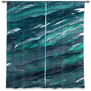 Decorative Window Treatments | Julia Di Sano - Agate Magic Dark Teal