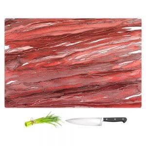 Artistic Kitchen Bar Cutting Boards | Julia Di Sano - Agate Magic Rust Red