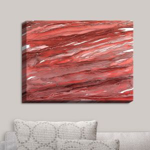 Decorative Canvas Wall Art | Julia Di Sano - Agate Magic Rust Red | Abstract Painting