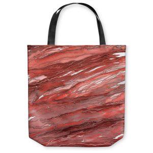 Unique Shoulder Bag Tote Bags | Julia Di Sano - Agate Magic Rust Red