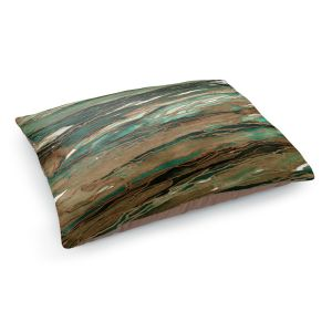 Decorative Dog Pet Beds | Julia Di Sano - Agate Magic Tan Dark Green