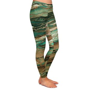 Casual Comfortable Leggings | Julia Di Sano - Agate Magic Tan Dark Green