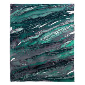 Artistic Sherpa Pile Blankets | Julia Di Sano - Agate Magic Teal Green Mauve