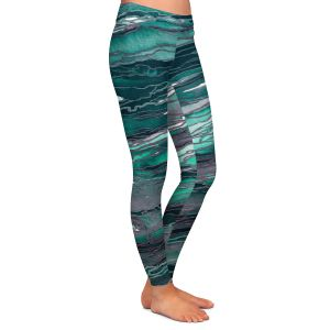 Casual Comfortable Leggings | Julia Di Sano - Agate Magic Teal Green Mauve