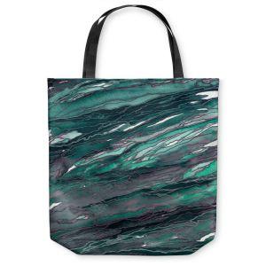 Unique Shoulder Bag Tote Bags | Julia Di Sano - Agate Magic Teal Green Mauve