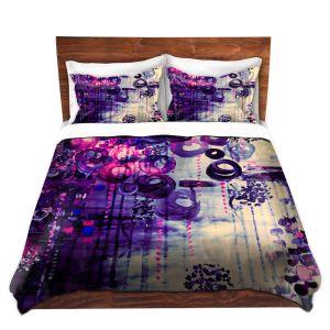 Artistic Duvet Covers and Shams Bedding | Julia Di Sano - Atomic Purple Dreams