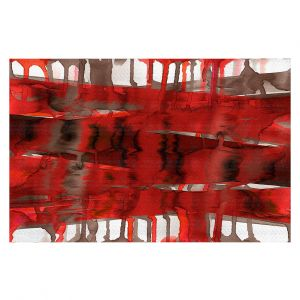 Decorative Floor Coverings | Julia Di Sano - Balancing Act Bright Red | Abstract