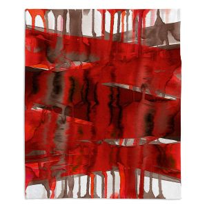 Artistic Sherpa Pile Blankets | Julia Di Sano - Balancing Act Bright Red | Abstract