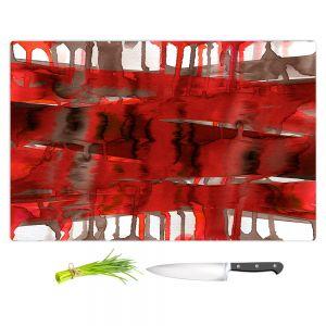 Artistic Kitchen Bar Cutting Boards | Julia Di Sano - Balancing Act Bright Red | Abstract