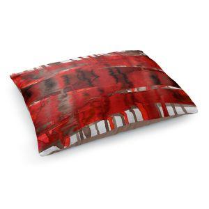 Decorative Dog Pet Beds | Julia Di Sano - Balancing Act Bright Red | Abstract