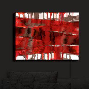 Nightlight Sconce Canvas Light | Julia Di Sano - Balancing Act Bright Red