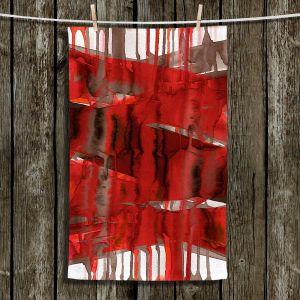 Unique Hanging Tea Towels | Julia Di Sano - Balancing Act Bright Red | Abstract